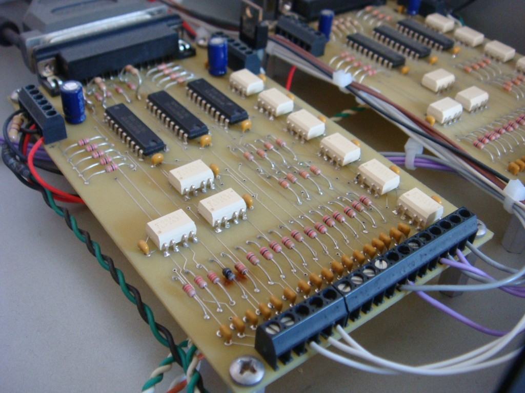 pcb layouts and schematics for my cnc  imsolidstate the astute observer will notice a fried resistor on the board that s the board doing just what it was designed to do protect my computer from dumb